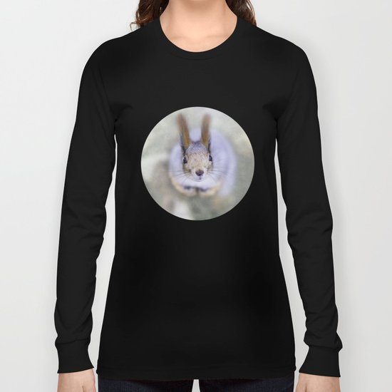Squirrel looks at you from the bottom up Long Sleeve T-shirt