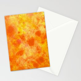Autumn Orange DyeBlot Stationery Cards