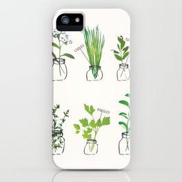 Mason Jar Herbs iPhone Case