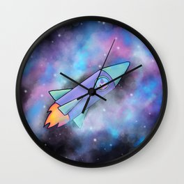 Wondrous & Whimzical Places: Bear and his Rocket Wall Clock