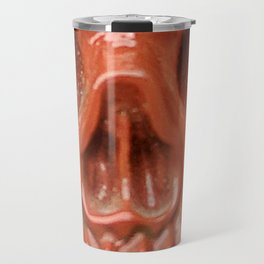 Red Jasper Skull Travel Mug