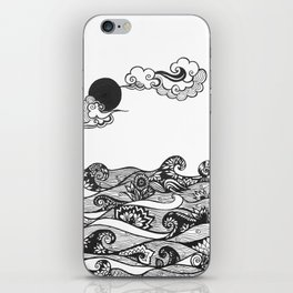 Swirly Water iPhone Skin