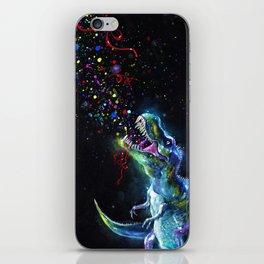 Crystal T-Rex in Space iPhone Skin