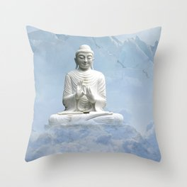 Buddha in Clouds Throw Pillow
