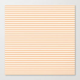 Bright Orange Russet Mattress Ticking Narrow Striped Pattern - Fall Fashion 2018 Canvas Print