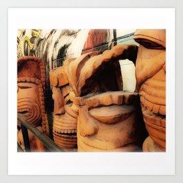 Tiki 3 Art Print