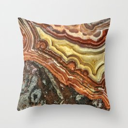Lace Agate Throw Pillow