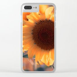 Soon she donates seeds for the birds the sunflower Clear iPhone Case