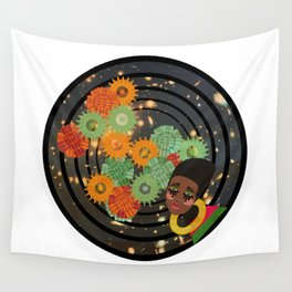 Magic Gold, Girl Through the Cosmos Wall Tapestry