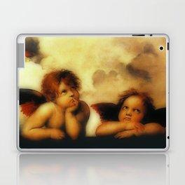 "Raffaello Sanzio da Urbino ""Sistine Madonna"", 1513-1514 - angels (1) Laptop & iPad Skin"