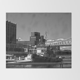Old Port Montreal Throw Blanket