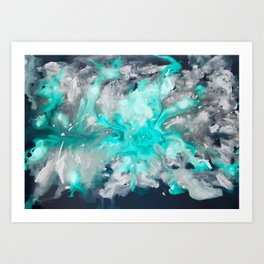 Ocean Turquoise Art Print
