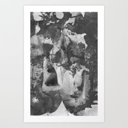 Graphite Storm Art Print