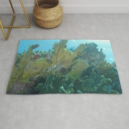 Watercolor Seascape, St John 56, USVI Rug