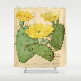 Vintage Cactus Shower Curtain