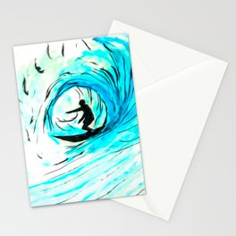 Solo - Surfing the big blue wave Stationery Cards