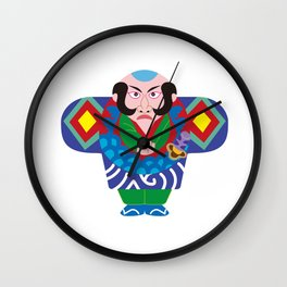Jpanese traditional kite Wall Clock