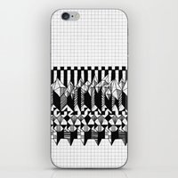 notebook iPhone & iPod Skins featuring School notebook  by Eva Bellanger