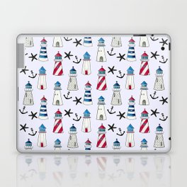 Watercolor Lighthouses Laptop & iPad Skin