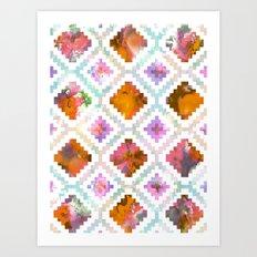 Aztec Sunrise Art Print