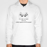 video game Hoodies featuring Video Game Enthusiast  by bitobots