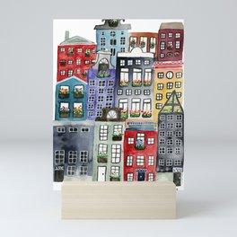 a walk through amsterdam Mini Art Print