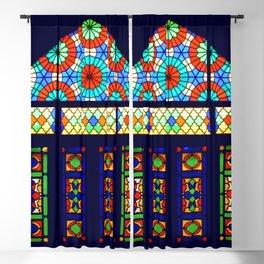 Stained Glass Window, Nasir-al-Molk Mosque Shiraz Iran Blackout Curtain
