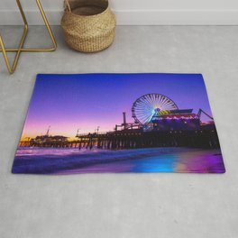 Santa Monica purple sunset Rug