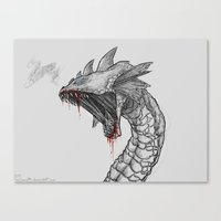 hydra Canvas Prints featuring Hydra by Sara Saeed