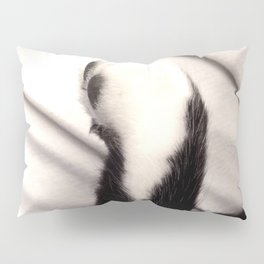 Black and white Cat Paw Pillow Sham