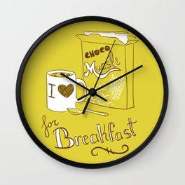 I love chocomuesli! Wall Clock