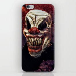 Scary Clown Purple Smoke iPhone Skin