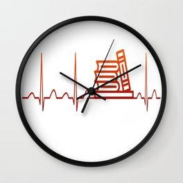 LIBRARIAN HEARTBEAT Wall Clock