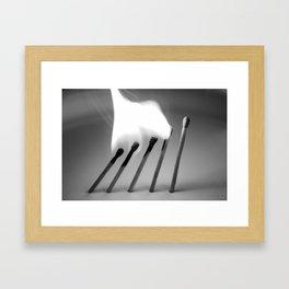 Matches Framed Art Print