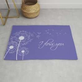 I floss you (purple) Rug
