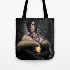 Final Fantasy X Lulu Painting Portrait Tote Bag