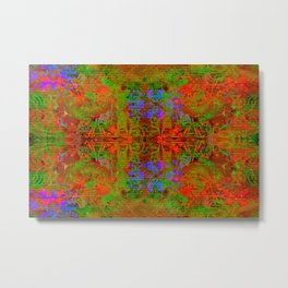 Test My Twist (psychedelic, abstract, halftone) Metal Print