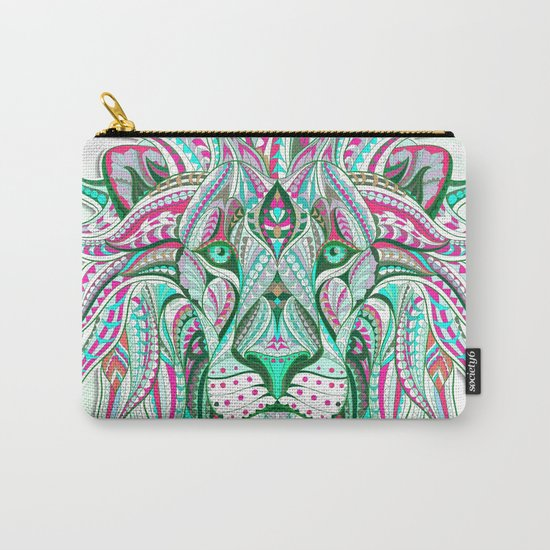Sea Green Ethnic Lion Carry-All Pouch