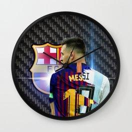 Carbon Messi Wall Clock