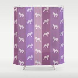 Zebra Pattern Shower Curtain