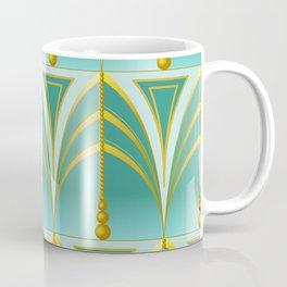 Art Deco - dark mint Coffee Mug