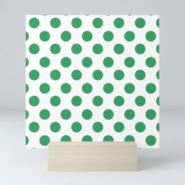 Kelly Green Medium Polka Dots Mini Art Print