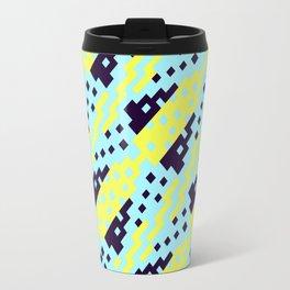 Chocktaw Geometric Square Cutout Pattern - Electric Ray Travel Mug