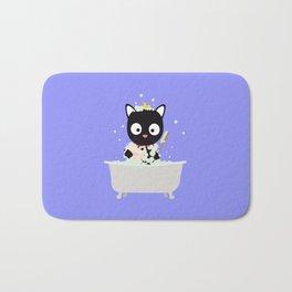 Bathing Cat in a bathtub Bath Mat