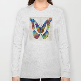 Colorful Butterfly Art by Sharon Cummings Long Sleeve T-shirt