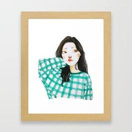 korean girl 1 Framed Art Print