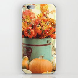 The Autumn table iPhone Skin