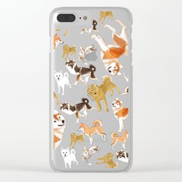 Japanese Dog Breeds Clear iPhone Case