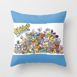 Pokémon - Gotta derp 'em all! - Group photo Throw Pillow