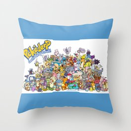 Pokémon - Gotta derp 'em all! - Group photo Throw Pillow